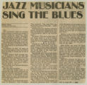 """Jazz Musicians Sing The Blues"""