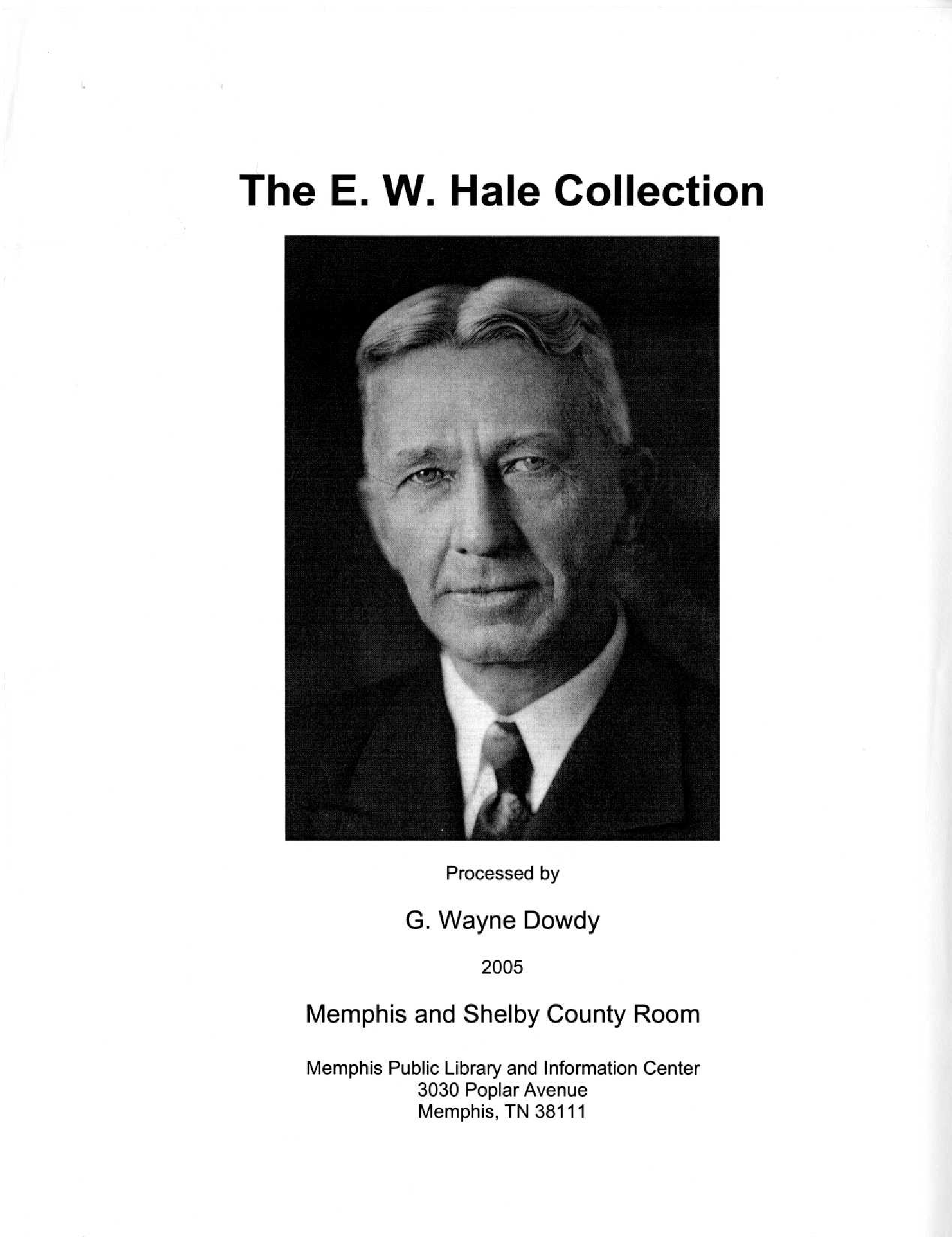 Ew hale collection manuscript collection finding aids dig ew hale collection malvernweather Images